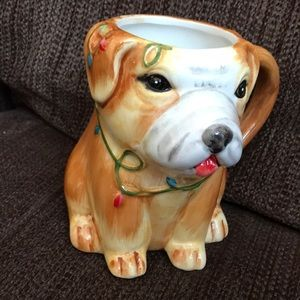 New. Sweet Living Collection. Christmas puppy mug